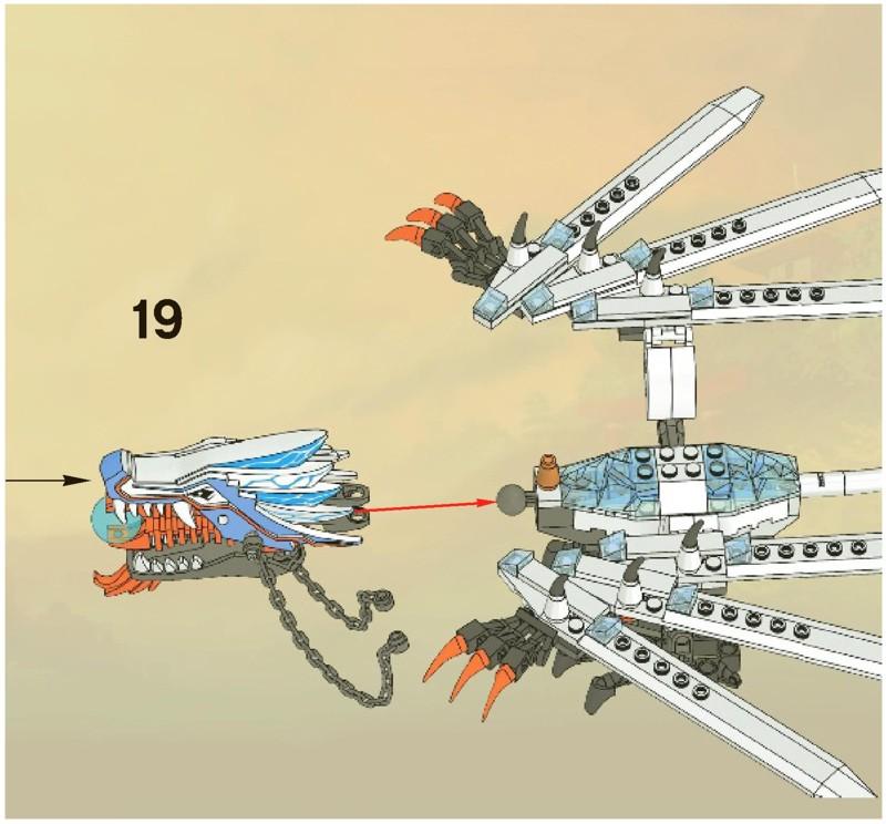 Инструкция как сделать из лего дракона