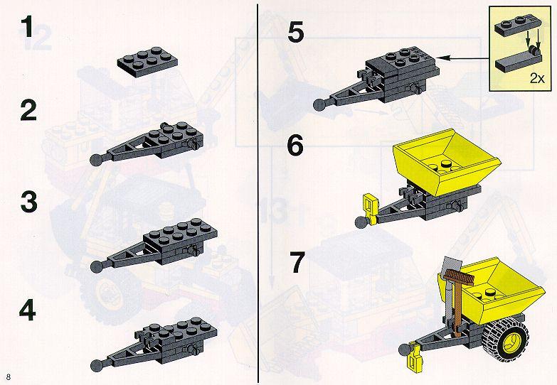 Как собрать трактор из лего инструкция