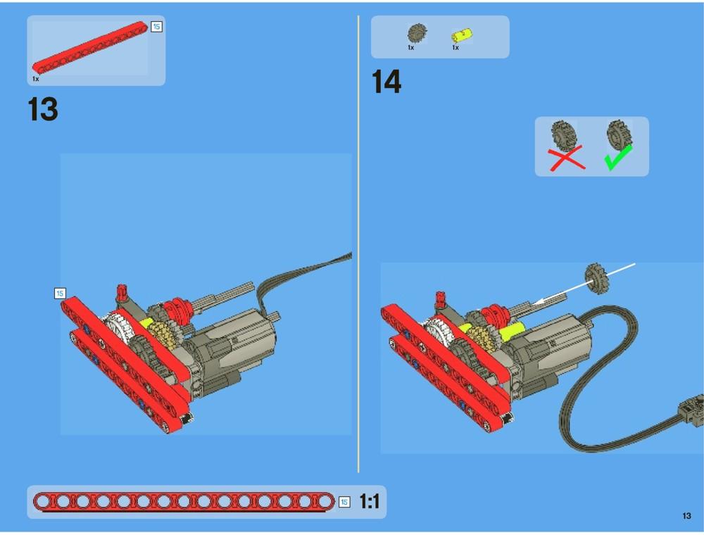 lego technic flatbed truck instructions