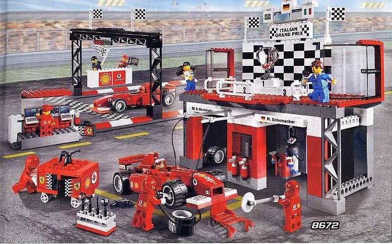 lego instructions for ferrari f1 fuel stop 8673 1 swooshable. Black Bedroom Furniture Sets. Home Design Ideas