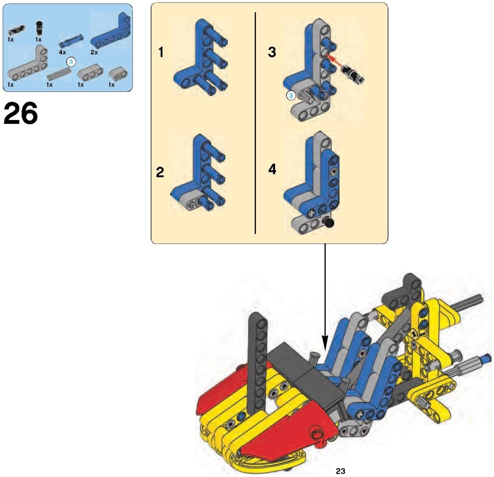 lego technic helicopter 9396 instructions