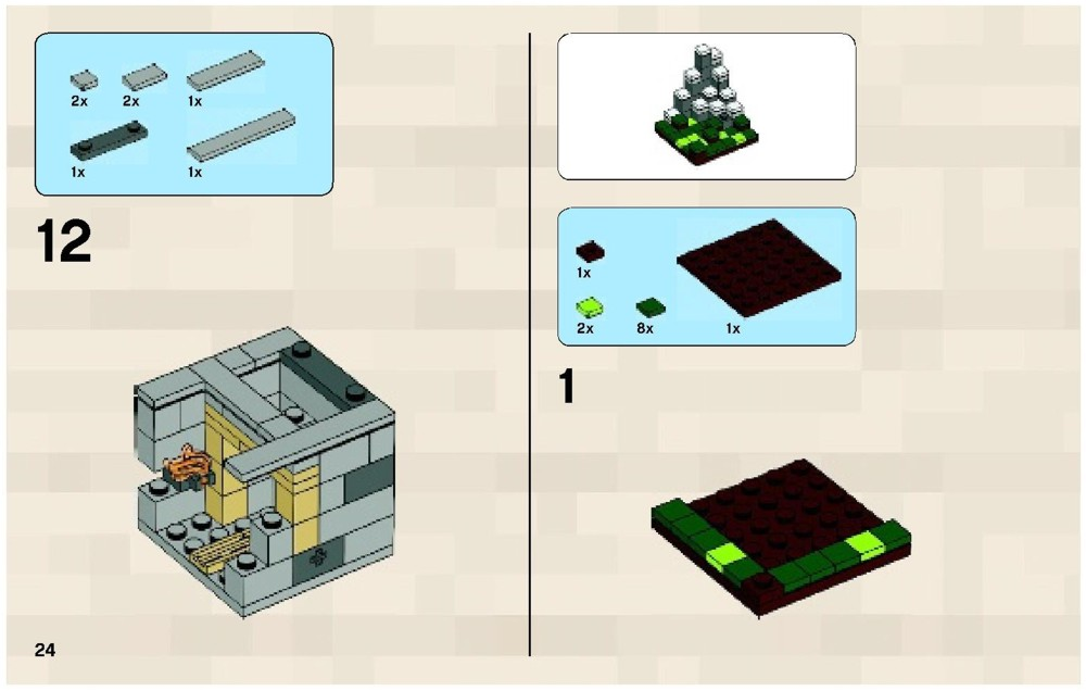 lego minecraft micro world instructions