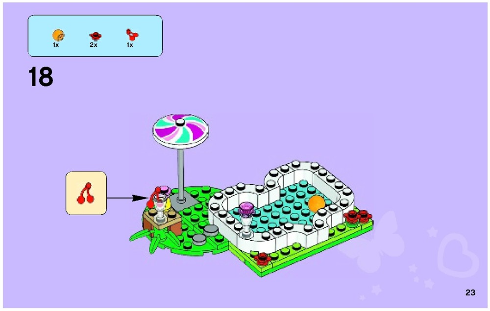 Lego instructions for olivia 39 s garden pool 41090 1 for Lego friends olivia s garden pool 41090
