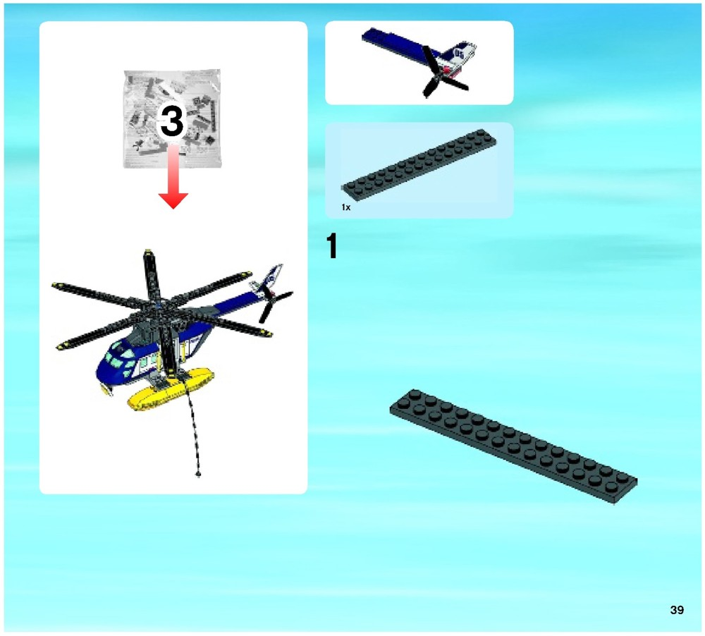 lego police helicopter 60067 instructions