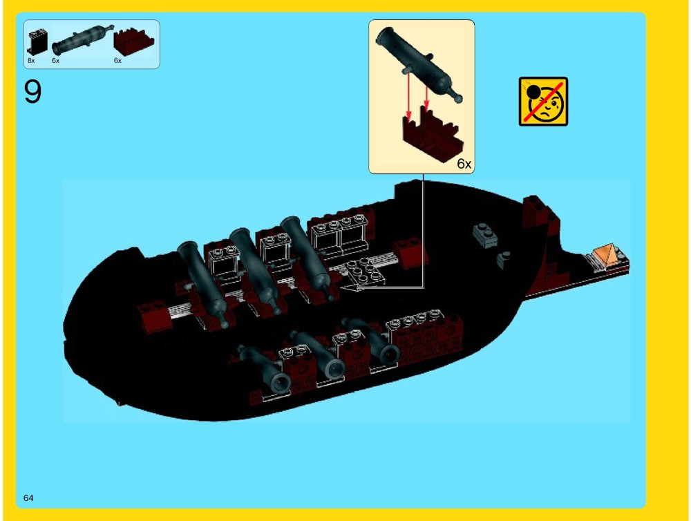 lego sea cow instructions